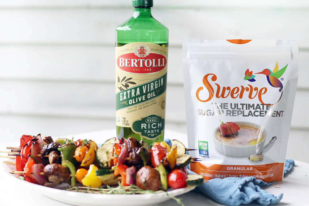 this recipe was made with Bertolli Oil and Swerve Sweetener from Publix