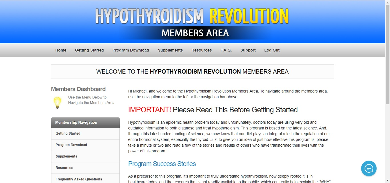 Hypothyroidism Member Area