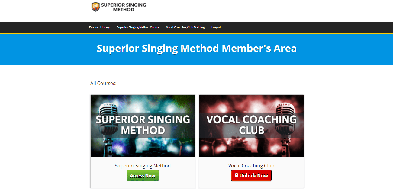 Superior Singing Method - Member Area