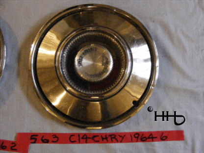Front view of hubcap # c14chry1964_6