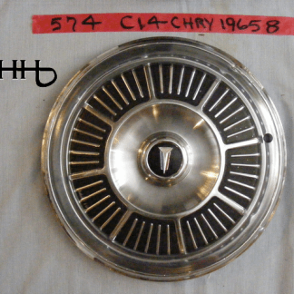 Front view of hubcap # c14chry1965_8