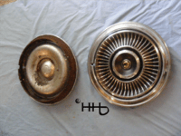 back and front views of hubcap # c15chry1969_5