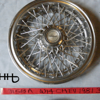 front view of hubcap # w14chev1981_3