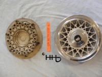 Back and front view of hubcap # c14buic1978_6