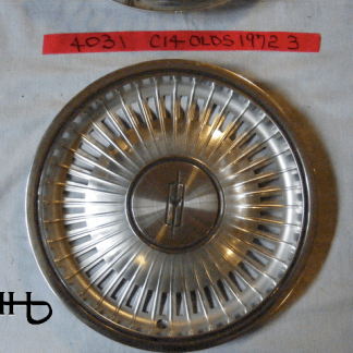 front view of hubcap # c14olds1972_3