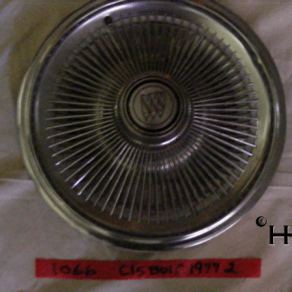 front view of hubcap # c15buic1977_2