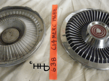 back and front profile view of hubcap # c14merc1968_8