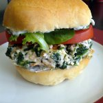 Spinach and Feta Burgers: Cheeseburgers With Spinach and Feta
