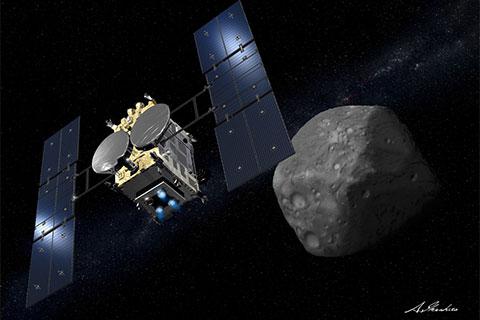 26億キロ泳いでりゅうぐう(Ryugu)に到達したはやぶさ2。JAXA会見で破壊された天体の集合と判明。季節もある。8月からの着地ミッション成功を祈る!