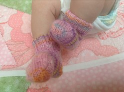 Knitted baby socks