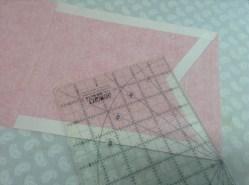 Princess bunting - marking the 60 degree angle