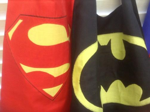 Superman and batman cape