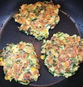 Buzymum - Fritters cooking in the pan