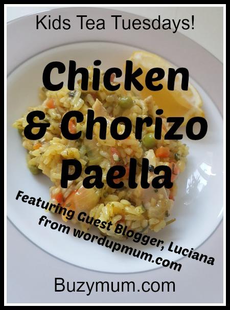 Buzymum - Chicken & Chorizo Paella
