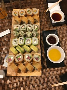 Buzymum - Sushi in Chile with avocado instead of seaweed wrap