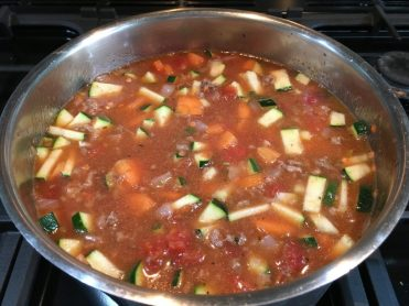 Buzymum - All ingredients in the pot and ready to cook the beany mince