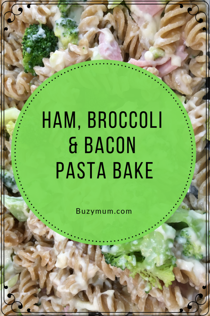This is such an easy, cheap pasta bake recipe that uses every day ingredients, can be prepared in advance and has all the elements of a well balanced meal. It can be served all by itself or with a side salad and is great for using up leftover gammon or even substitute leftover chicken or pork.