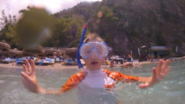 Buzymum - Snorkelling at the children beach, Liberty Lykia, Turkey