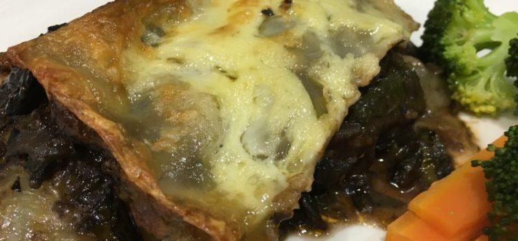 Buzymum - Mushroom and Spinach Lasagna