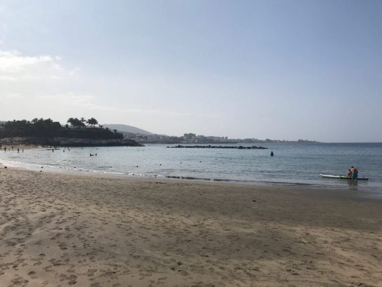 Beautiful sandy beach 2 minutes walk from the Sheraton hotel, Tenerife