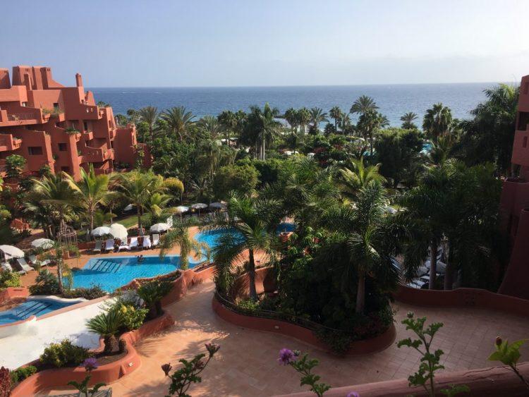 View of the pool & sea at the Sheraton Tenerife