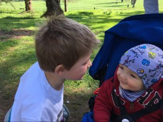 Buzymum - Playing peek-a-boo with Dani's little boy