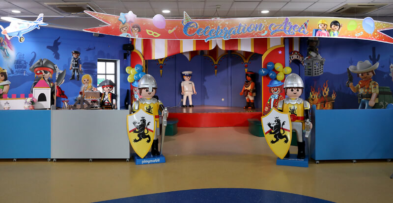 Private celebration area at Playmobil Funpark.