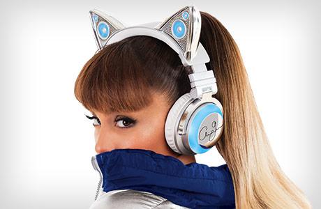 Ariana Grande Wireless Cat Ear Headphones- best car ears headsets