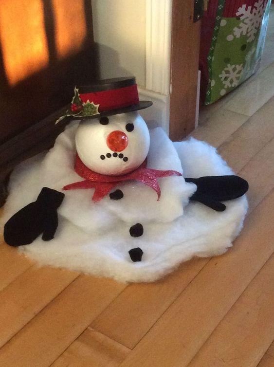 Christmas decor melting snow