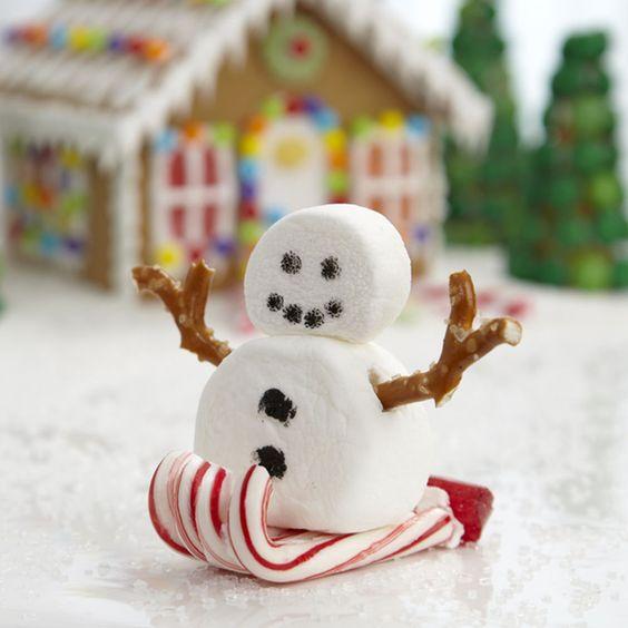 Christmas decor snow man on a sleigh