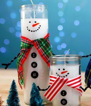 Christmas decor snow candles