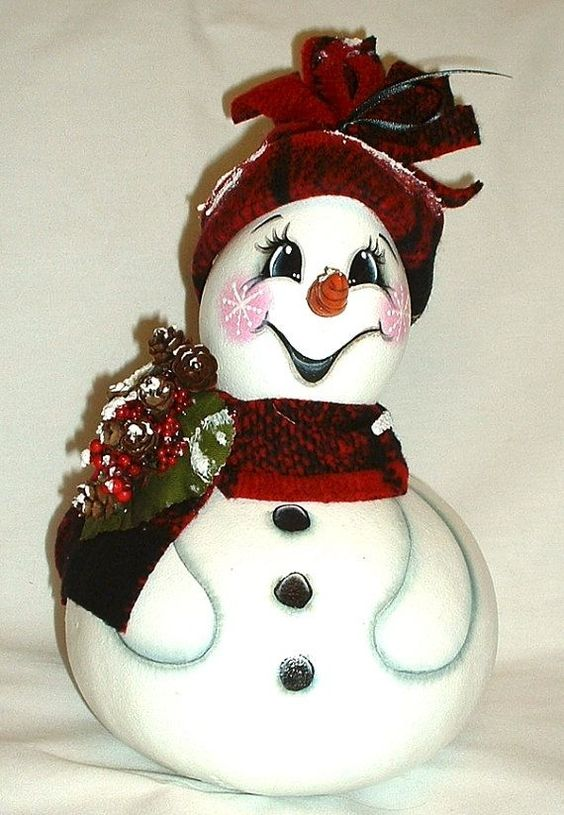 Christmas decor front snow man