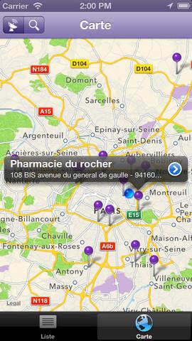 Monpharma24 : localisation de distributeur automatique de parapharmacie
