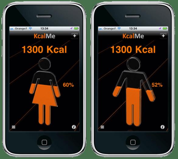 KcalMe : calorimètre 3D sur mobile