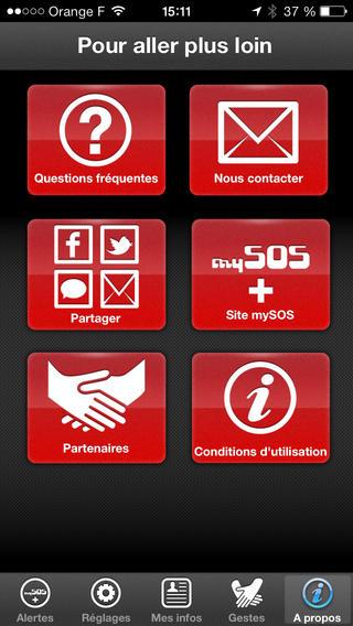 MySOS : application mobile pour personnes en détresse