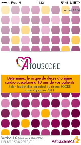 Atouscore : application pour l'évaluation du risque cardiovasculaire
