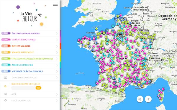 Carte interactive La Vie Autour
