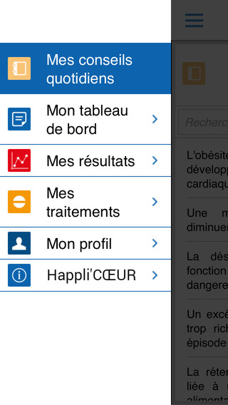 Happli'CŒUR : application pour patients insuffisants cardiaques