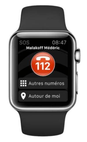 SOS Urgences sur Apple Watch