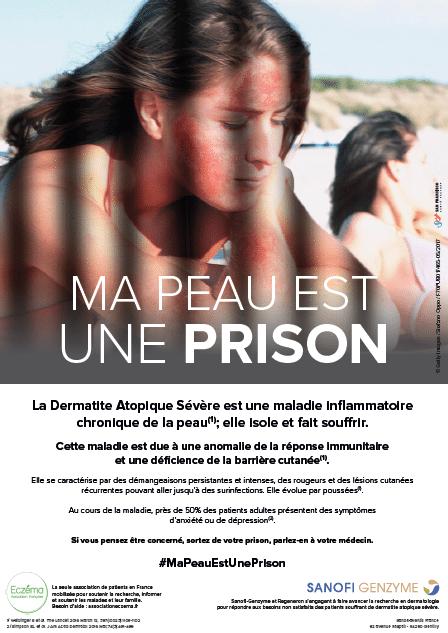 Sanofi lance la campagne Ma Peau Est Une Prison