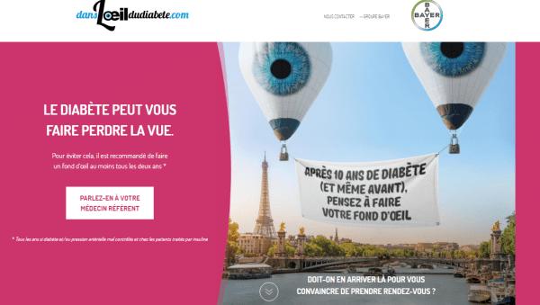 Campagne « Dans l'œil du diabète »