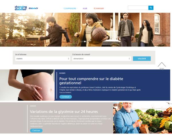 Plateforme diabete.fr par Novo Nordisk