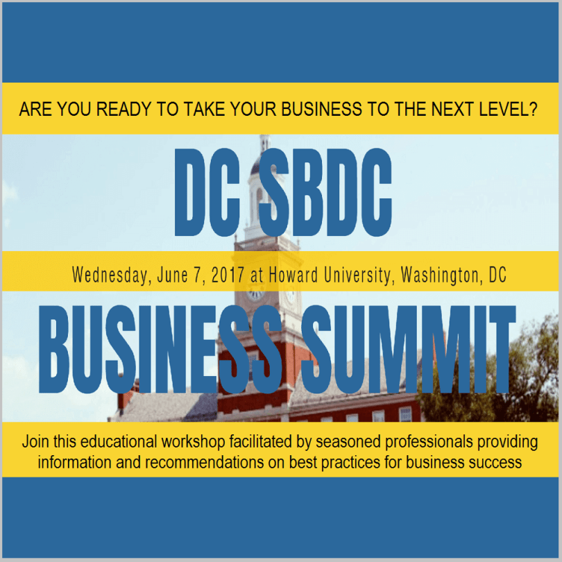 Are you ready to take your business to the next level? – Check out the DC Small Business Develop Center Business Summit