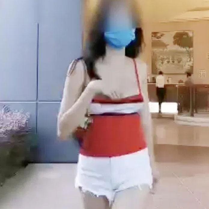 singaporean woman flashes telegram
