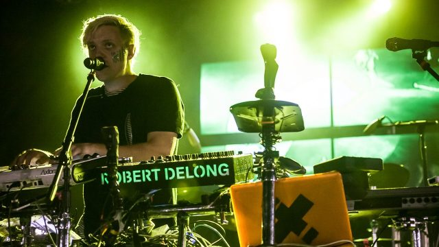 Robert DeLong at the Sunstock Solar Festival (Photo by Andie Mills)