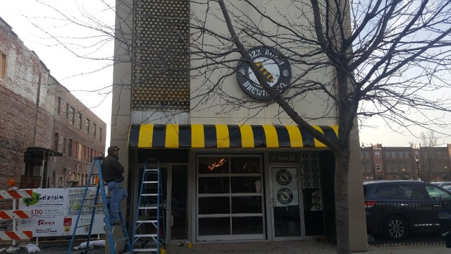 New awning and sign