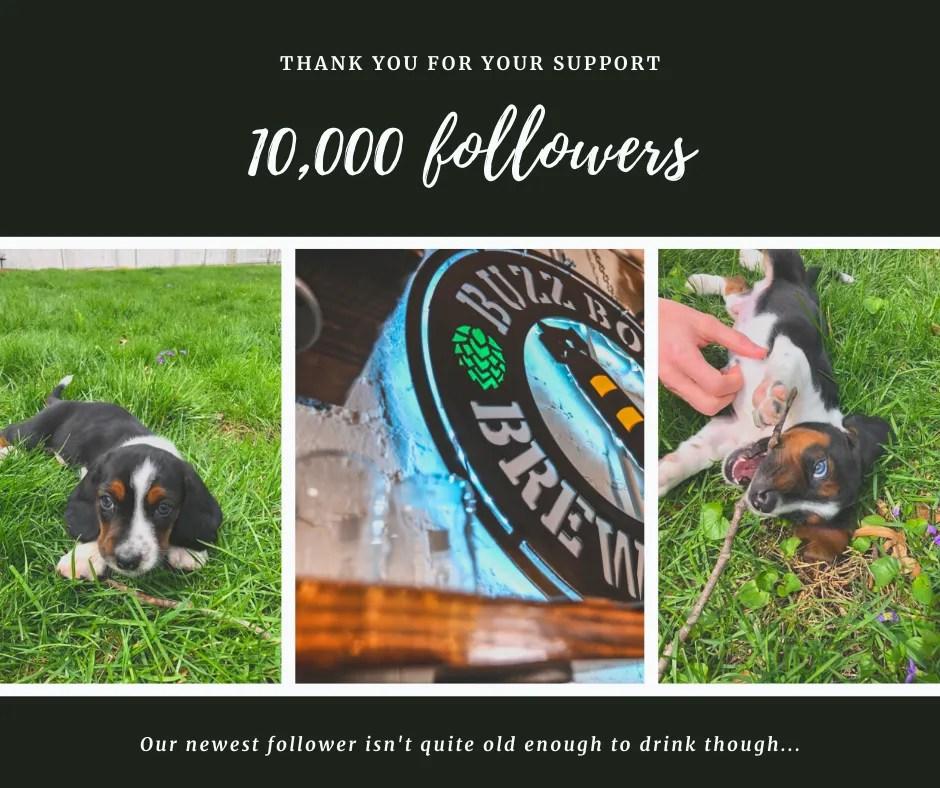 10000 followers