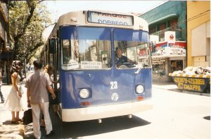 A trolley in the Mendoza system. Photo from Jorge Guevara.
