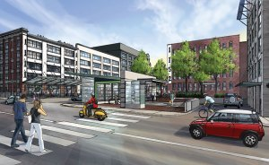 Yaletown Station: an illustration of what it will look like when complete!