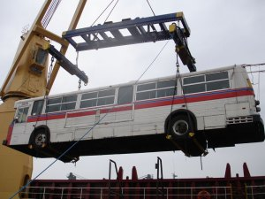 A trolley in midair!